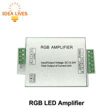 LED RGB Amplifier DC12-24V 24A RGB Amplifier for RGB LED Strip Power Repeater Console Controller.