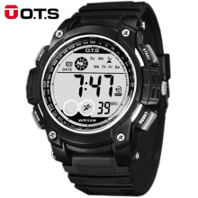 OTS digital-watch Digital Watches men sports 50M Waterproof 55MM large dial hours military Luminous wristwatches 2016 fashion