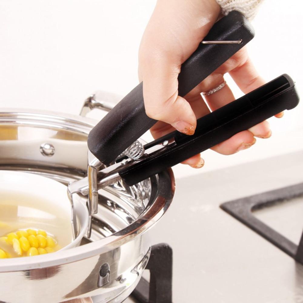 Tool Pan Gripper Clip Plate Retriever Tongs Dish Pot Clamp Hot Bowl Holder
