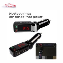 Wireless LCD Bluetooth Car FM Transmitter Kit MP3 Music Player USB Charger Support Handsfree SD Card for iPhone 6 5S Samsung(China)