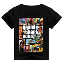 HOT Boys Girls T Shirt 1 gta T Shirt gta Street Fight Long with gta 5 clothes Children Cotton Tees Short Sleeve Kids Clothes(China)