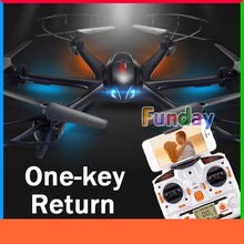 MJX X600 One-key Return RC Quadcopter with Camera iPhone Wifi FPV HD C4016 Real Time Video Helicopter Drone 6-Axis & H107D