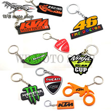 SOFT RUBBER MOTORCYCLE Key Chain Keychain Keyring Key ring for ktm Kawasaki honda yamaha ninja cup 46 Duke RC RC8 Duke SM ducat
