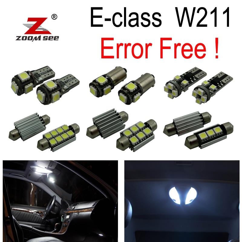 25pc X Error free LED Lamp Interior Dome Map Light Kit For Mercedes Benz E class W211 E320 E350 E430 E500 E55 AMG (2002-2008)<br>