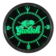 nc0002 Grolsch Beer Neon Sign LED Wall Clock
