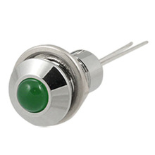 2 Pcs Green Pilot Lamp Panel Mounted LED Indicator Light