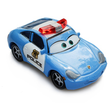 Disney Pixar Cars 2 Police Sally Diecast  Metal Alloy Model Cartoon Movie Toy Car For Children Gift 1:55 Loose New In Stock