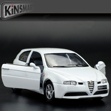 Brand New 1/32 Scale Car Toys Alfa Romeo 147 Diecast Metal Pull Back Car Model Toy For Gift/Collection/Kids Free Shipping