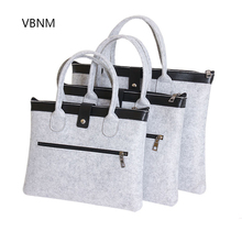 VBNM 11 to 16 Inch Muti-size Fashion Soft Wool felt Laptop Bag Business Briefcase for Macbook/IPAD Tablet Notebook Handle Bags