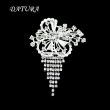 Wholesale Jewelry Supplier New Fashion Hot Selling Brooches Butterfly Korea Style CZ Wedding Bridal White .(China)
