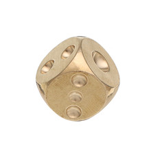 Entertainment Brass Solid Copper Dice Gold Color Mahjong Dice for Game Gife Party Club Bar Board Games Accessories with Friends(China)