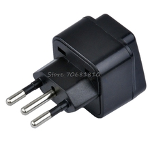 Universal United Kingdom/US/EU/Russia to Brasil Brazil Travel Power Adapter Plug -R179 Drop Shipping(China)