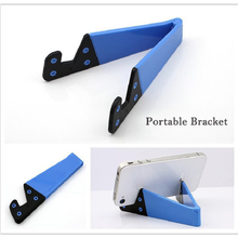 Hot Sale Portable Tripod Tablet PC Stand Holder Universal V Shape Foldable Mobile Phone Bracket for Ipad for Samsung Oc20