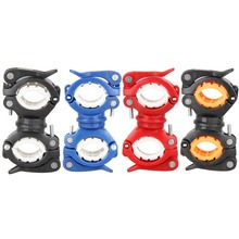 360 Degree Rotation Cycling Bike Bicycle Flashlight Torch Mount LED Head Front Light Holder Clip Bicycle Accessories 4 Colors(China)