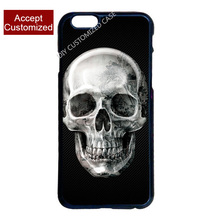 Horrible Skull Cover Case for iPhone 4 4S 5 5S SE 5C 6 6S 7 8 Plus X(China)