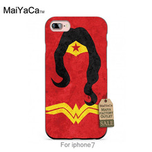 Silicone case Marvel Hero Superwoman Carttoon Design  cool girl Colorful Cute phone Accessories For case  6 6PLUS 7 7PLUS
