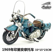 Great Collection Motor Style Retro Indian Motorcycle Model Mini Iron Motorbike Business Gift Home Bar Decoration