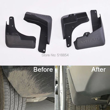 Free Shipping Soft plastic Mud Flaps Splash Guard Fender For 2014 2015 Nissan X-TRAIL(China)