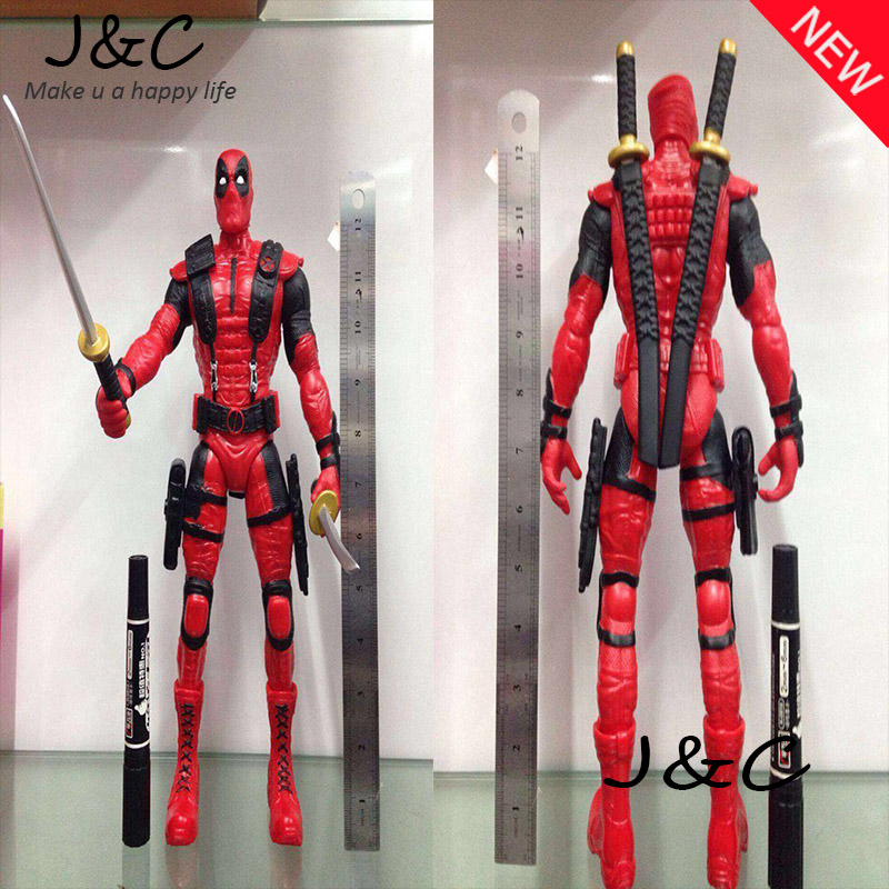 34cm PVC The Avengers Super Hero Justice league X-MAN Deadpool Action Figure toys Collection Model Toy Christmas gift<br><br>Aliexpress