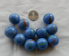 FREE SHIPPING 10pcs 25mm blue ceramic glass marble ball high quality 2.5cm colour ceramic glass ball for children playing toys(China)