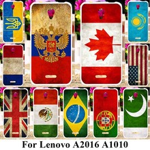 TAOYUNXI Soft Plastic Phone Cases For Lenovo Vibe B A2016 A1010 A20 A1000m A Plus APlus A1010a20 A 1010 Covers UK Russia Flags