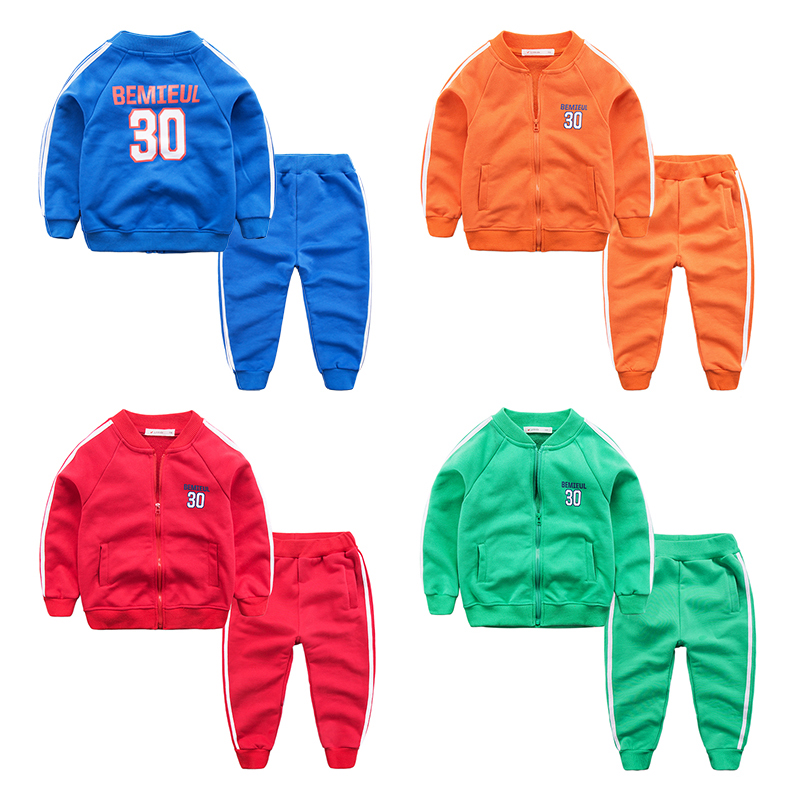 The boy in the spring of 2017 new sports suit small baby boy cardigan collar jacket pants two piece children<br><br>Aliexpress