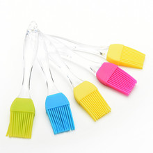 1 Pcs Candy color Silicone Baking Bread Cook tools Pastry Oil Cream BBQ Utensil safety Basting Brush for cooking Pastry Tools