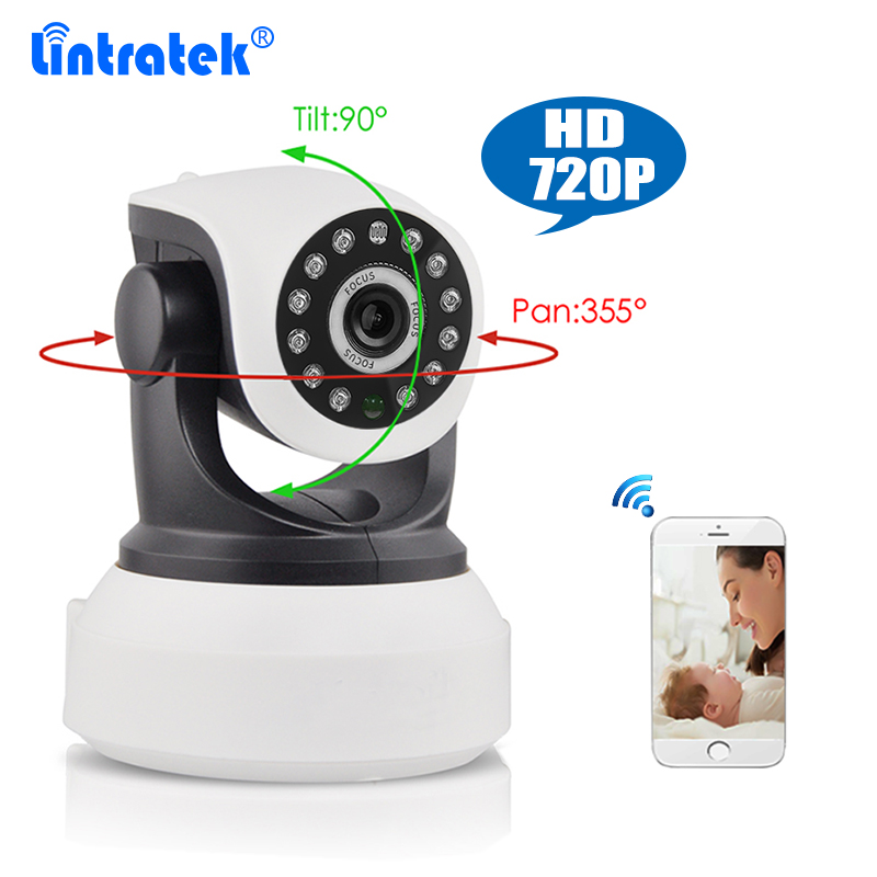 Home Camera 720P WiFi Wireless IP Security Surveillance Camera for Baby/Elder/ Pet/Nanny Monitor with Night Vision Ethernet Port<br>
