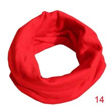 Winter Warm Baby Scarf Kids Child 100% Cotton Scarf 18 Colors Boys Girls O Ring Scarf Children Neck Scarves