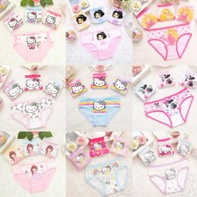 Buy 4Pcs/lot Cotton Children Panties Girls' Briefs Female Child Underwear Baby Girl Panty Children Clothing Suit 2-10years