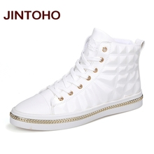 JINTOHO High Quality PU Leather Men Ankle Boots Fashion Glitter Leather Male Boots Winter Men Booties Brand Men Shoes