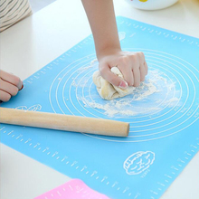 1Pcs 40*30CM Silicone Table Mats Large Non-slip Heat Resistant Mat Double Thick Baking Mat Waterproof Knead Noodles Dinning Pad