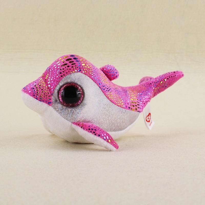 9cm-Ty-Beanie-Boos-Big-Eyes-Sparkles-Pink-Sparkle-Dolphin-Plush-Stuffed-Doll-Kids-Toys-Children