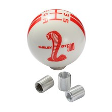 5 Speed Shift Knob Red White Stripes Cobra Mustang Car Gear Shift Knob For Most Automobile