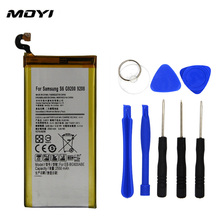 2017 New 100% MOYI Original Mobile Phone Battery Just For Samsung Galaxy S6 G920 G9200 G920F G920i 2550mAh Replacement Battery(China)