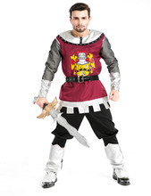 Mens Clothing Cosplay Gladiator costumes Spartan Greek warrior Christmas party Royal adult  Roman soldier uniforms  5pcs sets