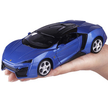 three Colors Diecast Metal Alloy Car 1:32 Pull Back Sport Car Model Simulation Autos with Sound&Light Boys Collection