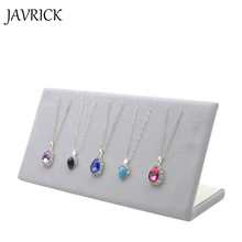 JAVRICK 2017 Jewelry Display Velvet Hanging Necklace Chain Bracelet Display L Stand Board Jewelry Holder Rack(China)