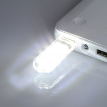 USB Light Mini USB Lamp Keychain Power 3 SMD LED Tube White Light U Disk For Laptop Lamp For PC For Computer