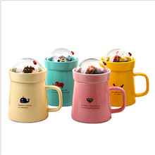 1 pcs 400ML Creative DIY Micro Landscaped Garden Ceramic Cup Cute Coffee Cup Mug