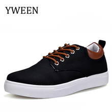YWEEN Men's Casual Shoes,Man Spring Autumn Style Flats For Men Solid Canvas Shoes Large size 45-47
