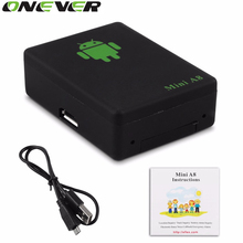 Onever LBS Tracker Mini A8 Tracker Global Real Time GSM Security Auto Tracking Device With SOS Button for Cars Kids Pets