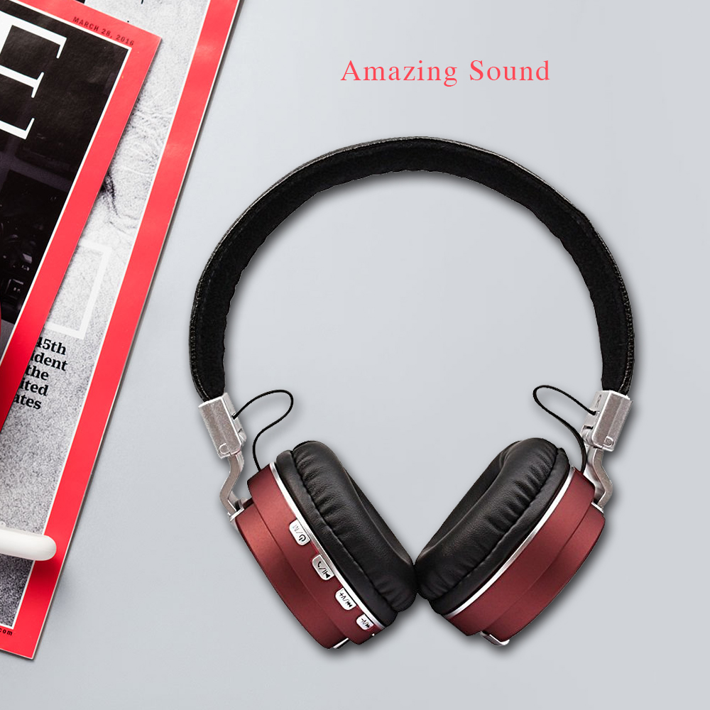 Bluetooth 4.1 Headphones Wireless earphone Hifi Stereo Sound music Earphones support Micro-SD FM for iPhone xiaomi high quality<br><br>Aliexpress
