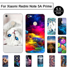 "Buy Soft Silicon Case Xiaomi Redmi Note5A Prime 5.5"" Back Phone Cover Redmi Note 5A Prime Case Cartoon Painted Pattern Shell for $1.84 in AliExpress store"