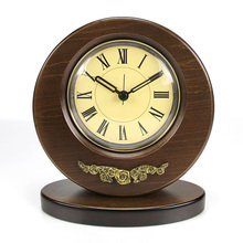 2016 Retro Wood Desk Clock Vintage Home Fashion Creative European Klokken Circular Flower Decoration For The living room KZ204