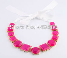 Women Imitation Factory Wholesale Price High Quality Fashion Neon Pink Necklace