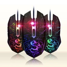 DTIME Brand Wired Game Mouse Optical USB Gaming Mouse Gamer Mice For Computer PC Laptop deathadder Bloody CS Go X7 3200DPI LOL