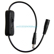 Switch Male to female Extension Cable cord with switch On/Off N DC Power Plug 5.5x2.1mm #H028#