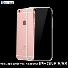 Transparent Soft TPU Silicon 4.0for iPhone 5s Case For Apple iPhone 5s iPhone5s Cell Phone back Cover Case