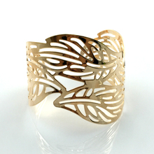 Cuff Bracelets Gold Color Exaggerated Hollow Leaves Shape Alloy Wide Big Bangles Hot Sale Bijoux For Women